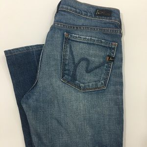 Citizens of Human Stretch Low Rise Bootcut Jeans